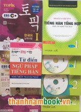 Combo Sách Tiếng Hàn Sơ Cấp + Luyện Thi Topik I + Từ Điển Ngữ Pháp