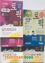 Combo Sách Luyện Thi TOPIK Level 1-6 (bản mới)