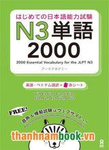 Hajimete no nihongo Tango N3 2000 – Bản Nhật Việt