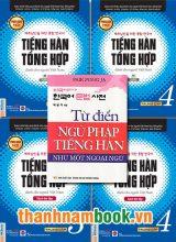 Combo Sách Tiếng Hàn Trung Cấp 3,4 Bản Đen Trắng + Từ Điển Ngữ Pháp